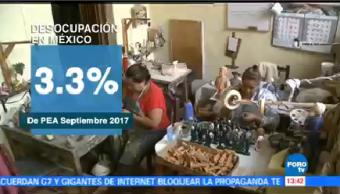 Tasa desocupación mantiene septiembre INEGI