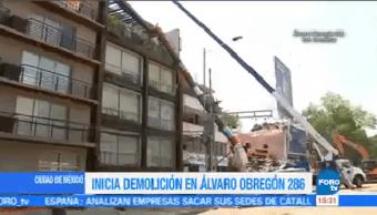 Trabajos Demolición Álvaro Obregón Continúan Trabajaos