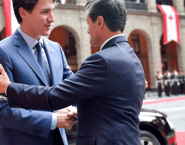 EPN reune con Trudeau en Palacio Nacional