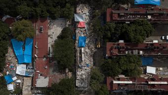 Vista aérea del multifamiliar de Tlalpan, afectado por sismo del 19S