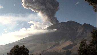Volcán Popocatépetl registra exhalación de dos mil metros de altura