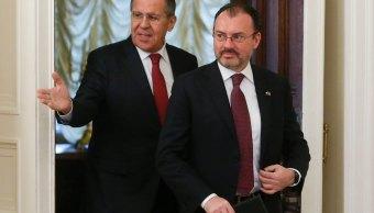 Videgaray se reúne con Lavrov; México quiere exportaciones de alimentos a Rusia