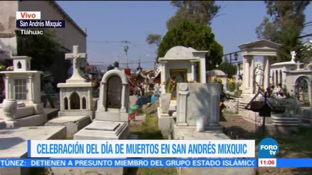 Tras el sismo del 19 de septiembre, cómo transcurre la fiesta del Día de Muertos en San Andrés Mixquic, delegación Tláhuac de la CDMX