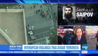 Intensifican vigilancia en NY tras ataque terrorista