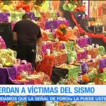 Con ofrendas recuerdan a víctimas del multifamiliar Tlalpan