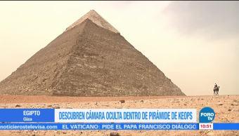 Hallan cámara oculta en Pirámide de Keops