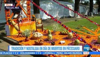 Flor de cempasúchil, protagonista en altares de Pátzcuaro