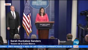 Trump felicitó al Comité de Presupuesto, informa Sarah Huckabee