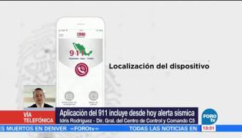 Alerta sísmica en aplicación móvil 911 apoyará labor del C5