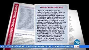 Guerreros Unidos, una amenaza nacional: DEA