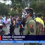 Capitalinos celebran el Día de Muertos en Coyoacán