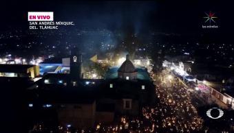 Noche de la alumbrada en Mixquic
