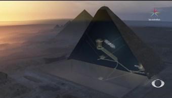 Revelan el interior de la Pirámide de Keops