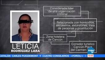 'Doña Lety', dueña de algunas cajas de seguridad en Cancún