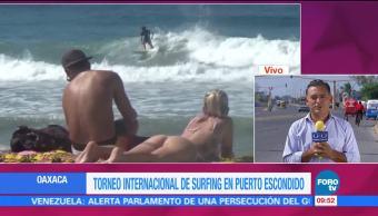 Realizan torneo internacional de surfing en playas de Oaxaca