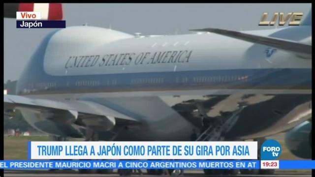 Trump llega a Japón como parte de su gira de trabajo por Asia