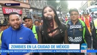 Zombies invaden la Ciudad de México