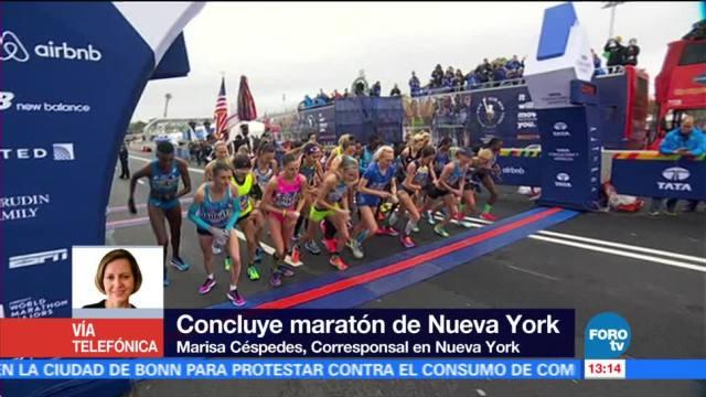 Kenia y Estados Unidos ganan maratón de Nueva York