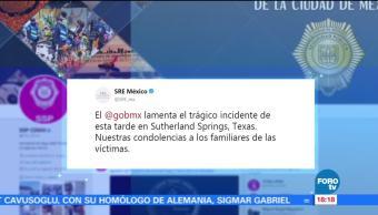 Gobierno de México lamenta tiroteo en iglesia bautista de Texas