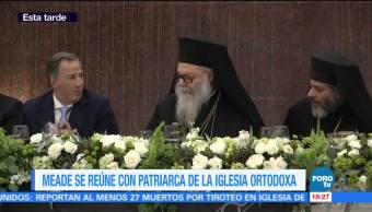 Meade se reúne con patriarca de la Iglesia ortodoxa