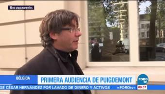 Primera audiencia de Carles Puigdemont