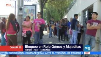 Padres de familia bloquearon avenida Rojo Gómez, en CDMX