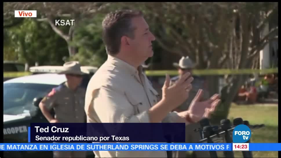 Ted Cruz condena masacre en iglesia de Texas