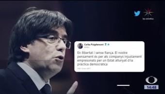 Puigdemont no cree que haya juicio justo a independentistas
