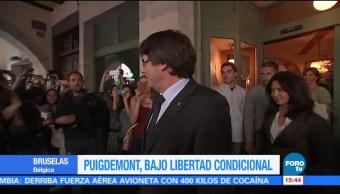 Expresidente de Cataluña Carles Puigdemont en libertad condicional