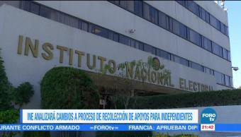INE analizará cambios a proceso de recolección de apoyos para independientes