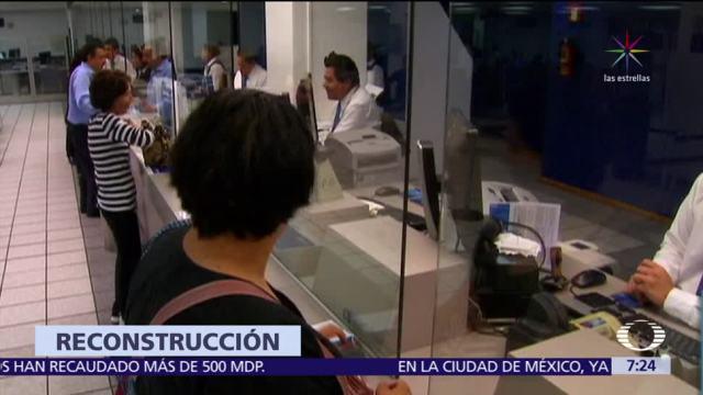 21 bancos han recaudado 500 mdp para la reconstrucción tras los sismos