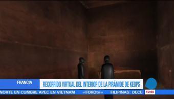 Recorrido virtual del interior de la pirámide de Keops