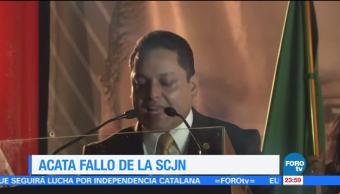 Israel Moreno acata fallo de la SCJN