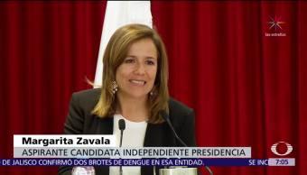 Margarita Zavala pide al INE compensar retrasos de app para recabar firmas