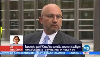 'El Chapo' será evaluado psicológicamente, sin contacto físico