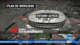Habrá autobuses especiales para evento de futbol americano en el Azteca