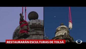 Retiran escultura de la Catedral Metropolitana de la CDMX