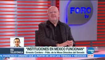 Ernesto Cordero: Convocatoria para titular de Fepade debe ser clara