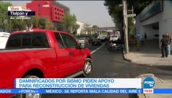 Damnificados del sismo 19S en CDMX retiran bloqueos en Tlalpan