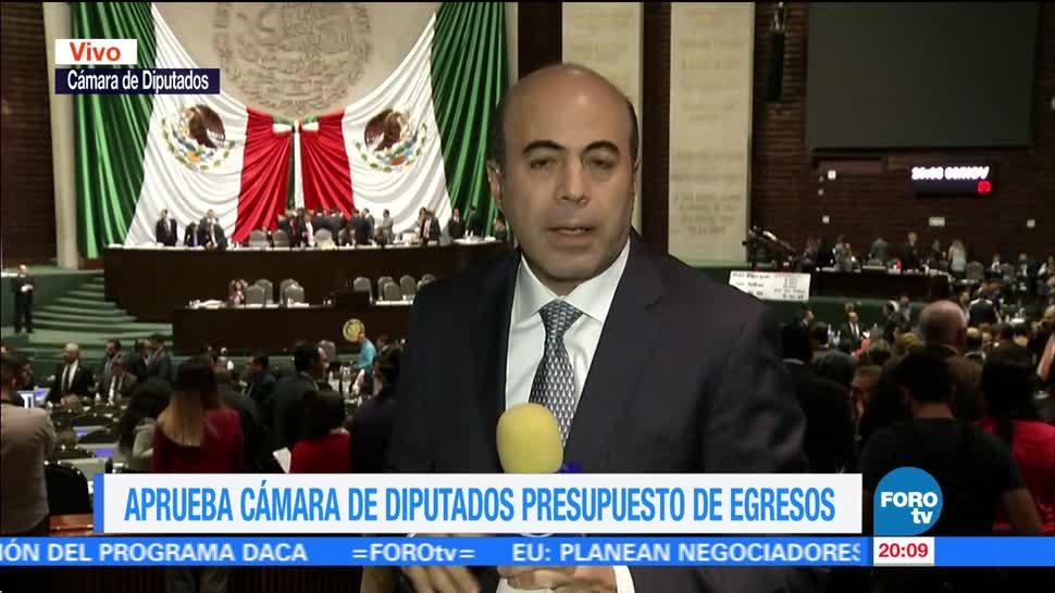 Diputados aprueban en lo general el Presupuesto 2018