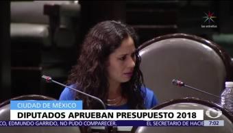 Diputados aprueban en lo general y particular el presupuesto de egresos 2018