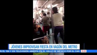 Extra, Extra: Jóvenes improvisan fiesta en vagón del Metro