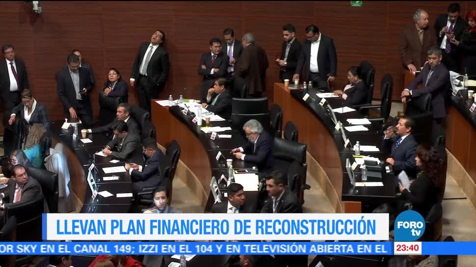 Llevan plan financiero de reconstrucción al Senado