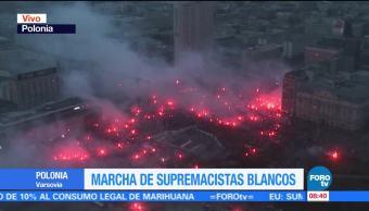Realizan Marcha Multitudinaria Supremacistas Blancos Polonia