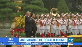 Trump sostiene encuentro bilateral con su homólogo de Vietnam