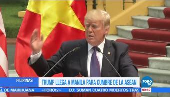 Trump realiza última parada de gira por Asia