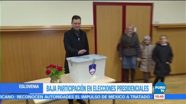 Se registra baja participación en comicios presidenciales en Eslovenia
