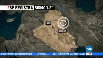 Se registra sismo de 7.2 grados en Irak