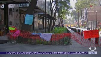 Comerciantes de Zona Rosa denuncian pérdidas económicas por edificio afectado tras sismo