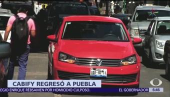 Cabify reanuda operaciones en Puebla tras modificación de requisitos